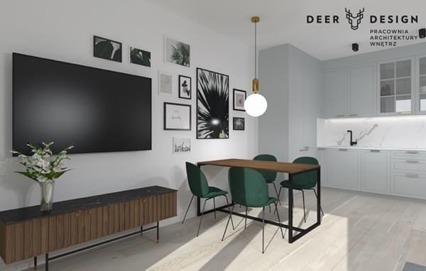 Deer Design - wizualizacja wnętrza