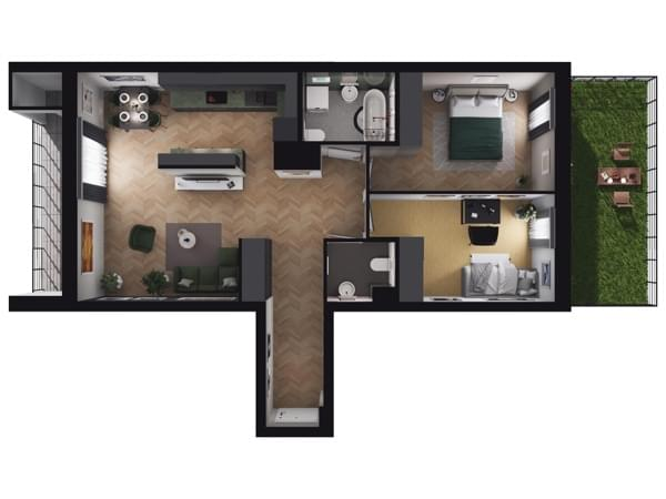 Zarzecze Pruszków - wizualizacja mieszkania 002