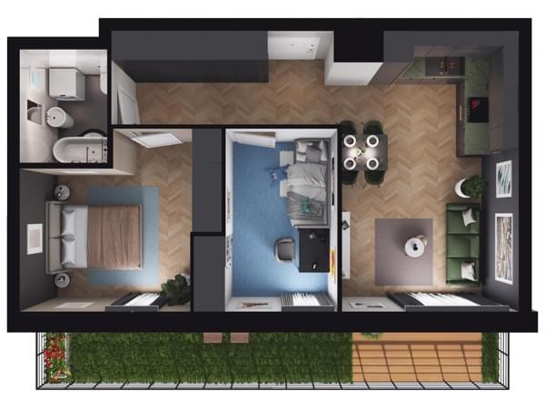 Zarzecze Pruszków - wizualizacja mieszkania 005