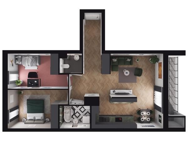 Zarzecze Pruszków - wizualizacja mieszkania 020