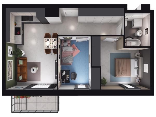 Zarzecze Pruszków - wizualizacja mieszkania 022