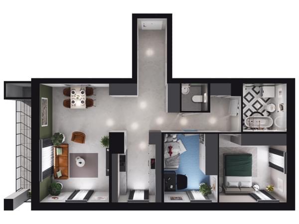 Zarzecze Pruszków - wizualizacja mieszkania 025