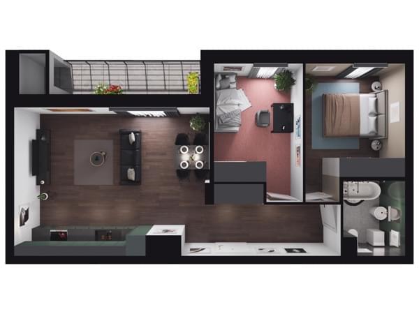 Zarzecze Pruszków - wizualizacja mieszkania 028