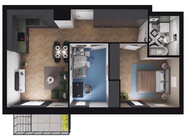 Zarzecze Pruszków - wizualizacja mieszkania 031