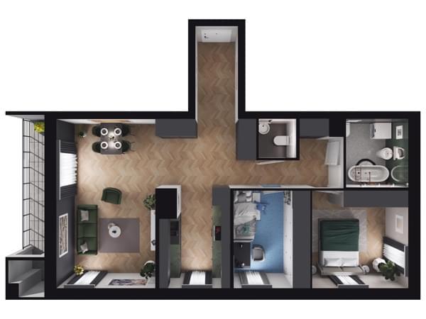 Zarzecze Pruszków - wizualizacja mieszkania 034
