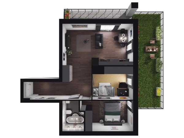 Zarzecze Pruszków - wizualizacja mieszkania 039