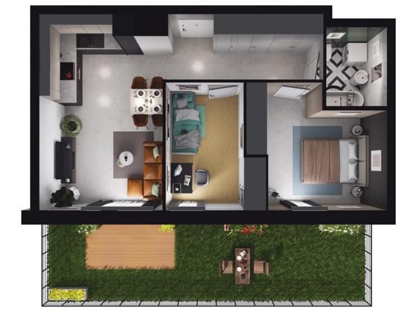 Zarzecze Pruszków - wizualizacja mieszkania 041