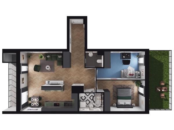 Zarzecze Pruszków - wizualizacja mieszkania 044