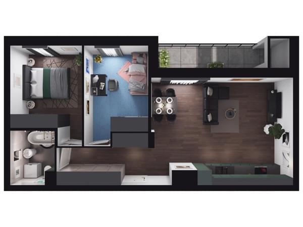 Zarzecze Pruszków - wizualizacja mieszkania 045