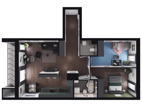 Zarzecze Pruszków - wizualizacja mieszkania 053