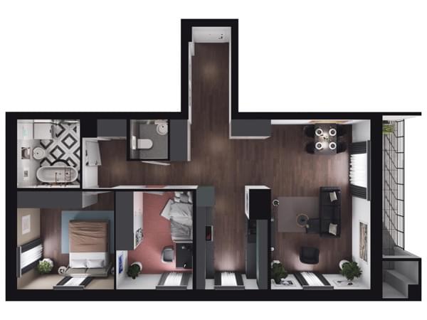 Zarzecze Pruszków - wizualizacja mieszkania 057
