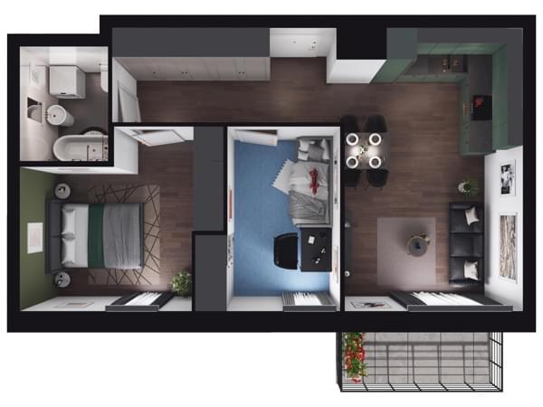 Zarzecze Pruszków - wizualizacja mieszkania 023