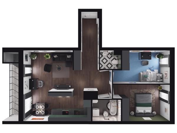 Zarzecze Pruszków - wizualizacja mieszkania 062