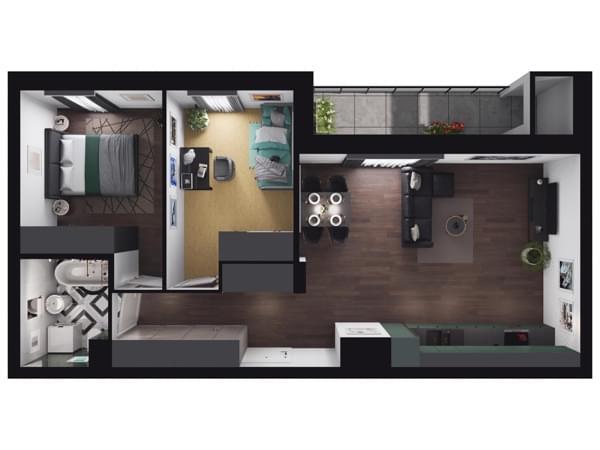 Zarzecze Pruszków - wizualizacja mieszkania 063