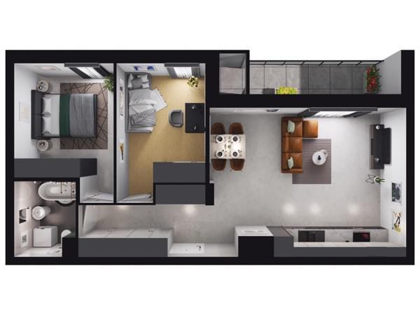 Zarzecze Pruszków - wizualizacja mieszkania 072